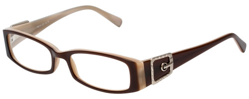 Calabria Designer Reading Glasses 814 Nutmeg with Blue Light Filter + A/R Lenses