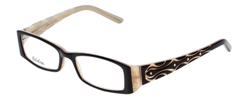 Calabria Designer Reading Glasses 815 Ebony with Blue Light Filter + A/R Lenses
