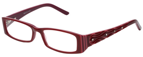 Calabria Designer Reading Glasses 815 Cabernet with Blue Light Filter + A/R Lenses