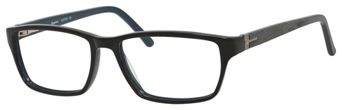 Esquire Designer Rectangle Frame Eyeglasses EQ1501 in Black/Blue-55mm Progressive