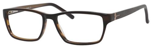 Esquire Designer Rectangle Frame Eyeglasses EQ1501 in Brown/Black-55mm Progressive