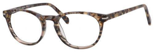 Esquire Designer Unisex Oval Frame Eyeglasses EQ1510 in Olive Amber-50 mm Progressive