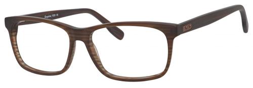 Esquire EQ1535 Men's Rectangular Frame Eyeglasses Brown Stripe 55 mm Progressive