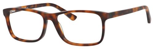 Esquire EQ1539 Rectangular Frame Eyeglasses in Tortoise Havana Brown 55mm Progressive