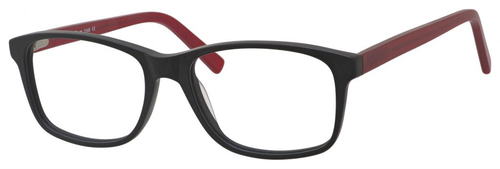 Esquire Mens EQ1546 Eyeglasses with Black Frames and Red Temples 54mm Progressive
