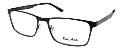 Esquire Mens EQ1524 Blue Light Filter+A/R Lenses Eyeglasses in Satin Black 55 mm