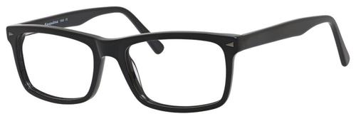 Esquire Mens EQ1548 Blue Light Filter+A/R Lenses Eyeglasses Shiny Black 55 mm