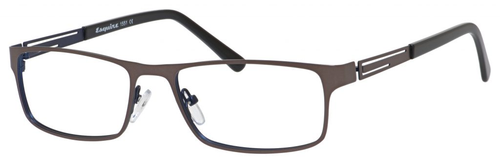 Esquire Mens EQ1551 Metal Frame Reading Eyeglasses in Gunmetal 54mm Progressive