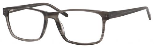 Esquire EQ1566 Mens Rectangle Frame Eyeglasses in Grey Amber 57 mm Progressive