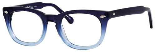 Ernest Hemingway H4668 Unisex Round Eyeglasses in Blue Fade 48 mm Progressive