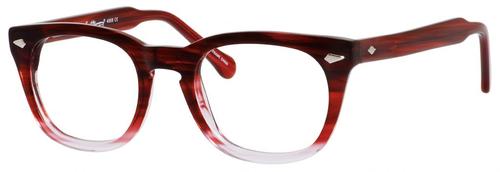 Ernest Hemingway H4668 Unisex Round Eyeglasses in Burgundy Fade 48 mm Progressive