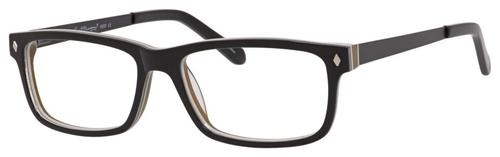 Ernest Hemingway H4690 Unisex Rectangular Eyeglasses in Shiny Black 54 mm Progressive