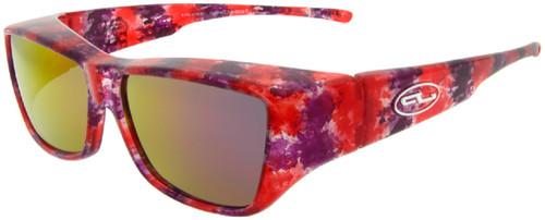 Jonathan Paul® LARGE Fitovers Malibu in Berry Crush Red w/Polarized Purple Mirror