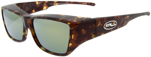 Jonathan Paul® LARGE Fitovers Malibu Tortoise Brown Gold w/Polarized Yellow Mirror