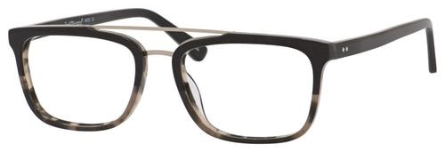 Ernest Hemingway H4825 Unisex Rectangular Frame Eyeglasses in Black/Amber 54 mm Progressive