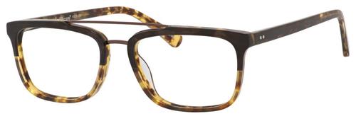 Ernest Hemingway H4825 Unisex Rectangular Frame Eyeglasses in Olive/Amber 54 mm Bi-Focal