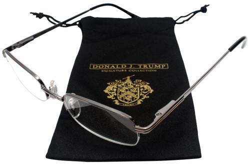 Donald Trump Designer Semi-Rim Metal Reading Glasses DTR 02 Gunmetal Silver 51mm