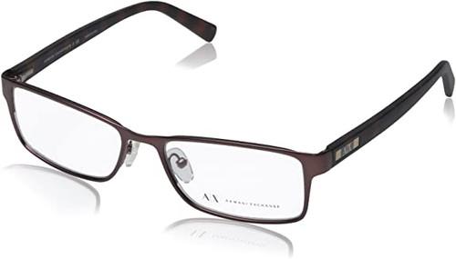 ARMANI EXCHANGE Designer Reading Eye Glasses Brown AX1003-6016-52mm RX SV