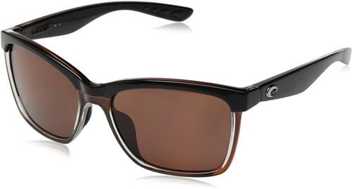 Costa Del Mar Anaa Sunglasses Black/Brown Copper Lens 580P Polarized