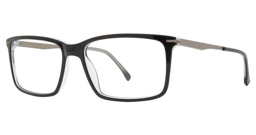 Big and Tall 20 Designer Prescription Eye Glasses in Black Crystal 60 mm :: Progressive