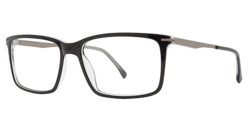 Big and Tall 20 Designer Prescription Eye Glasses in Black Crystal 60 mm:: Rx Bi-Focal