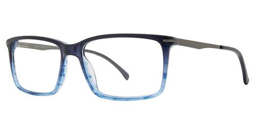 Big and Tall 20 Designer Reading Eye Glasses in Navy Blue 60 mm :: Custom Left & Right Lens