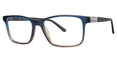 Big and Tall 17 Designer Blue Light Blocking Filter Reading Glasses  Matte Blue Fade 58mm