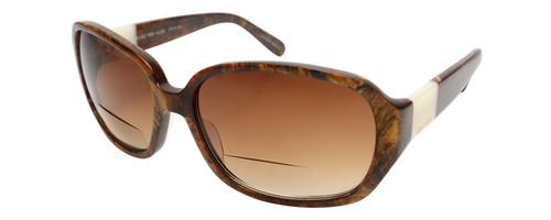 Vera Wang Designer Bi-Focal Sunglasses Flint Black/Brown Marble 57mm