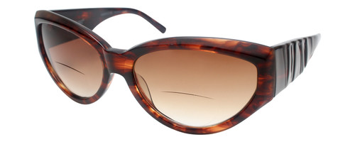 Vera Wang Designer Bi-Focal Cateye Sunglasses Graphite Tortoise/Brown 58mm