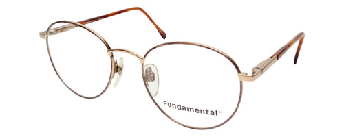 Calabria Designer Round/Oval Reading Glasses Fundamental Gold 52mm Made in Italy