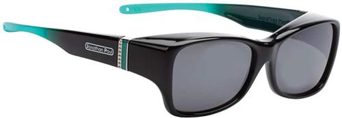 Jonathan Paul Fitovers Sunset Twilight Over Sunglasses Black Emerald Green&Grey