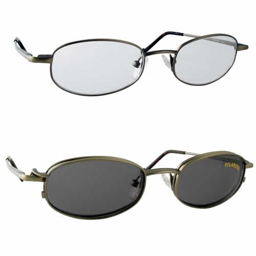 Magnetic Clip-On 210 Polarized Reading Sunglasses :: Custom Left & Right Lens