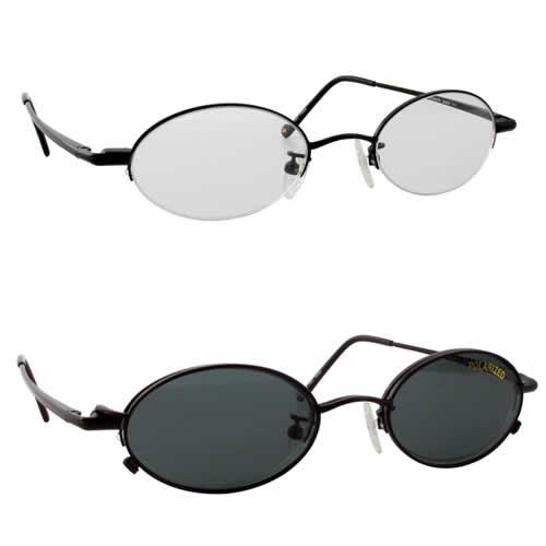 Magnetic Clip-On 211 Polarized Reading Sunglasses :: Custom Left & Right Lens
