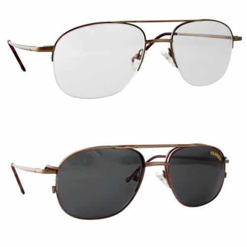 Magnetic Clip-On 215 Polarized Reading Sunglasses :: Custom Left & Right Lens