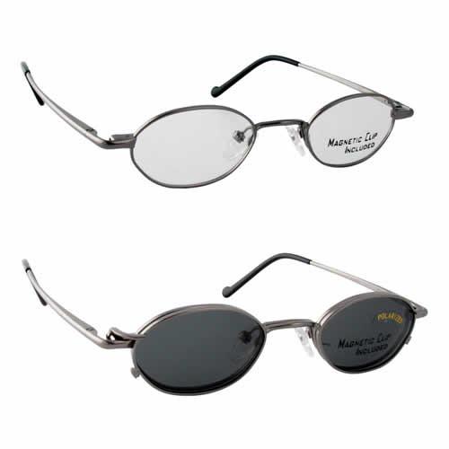 Magnetic Clip-On 230 Polarized Reading Sunglasses :: Custom Left & Right Lens
