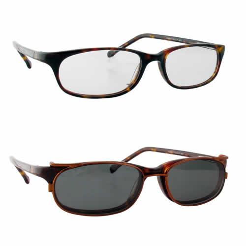 Magnetic Clip-On 902 Polarized Reading Sunglasses :: Custom Left & Right Lens