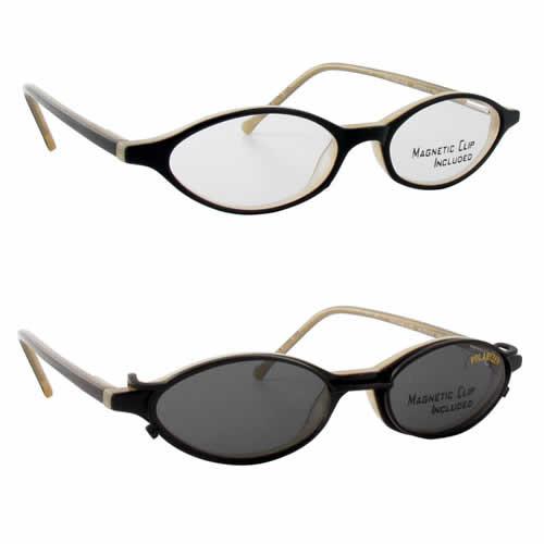 Magnetic Clip-On 903 Polarized Reading Sunglasses :: Custom Left & Right Lens