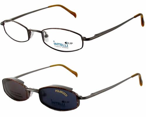 Magnetic Clip-On 761 Polarized Reading Sunglasses :: Custom Left & Right Lens