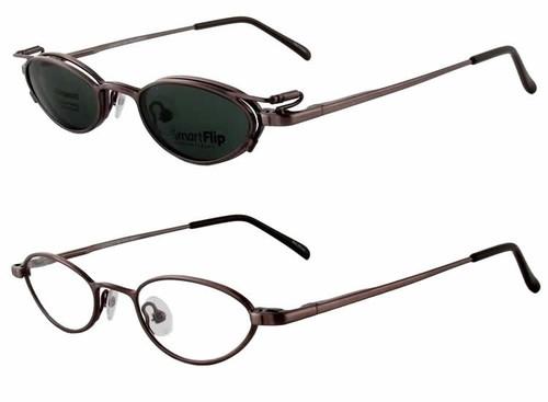 Magnetic Clip-On 450 Polarized Reading Sunglasses :: Custom Left & Right Lens