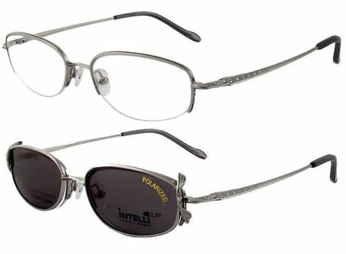 Magnetic Clip-On 747 Polarized Reading Sunglasses :: Custom Left & Right Lens