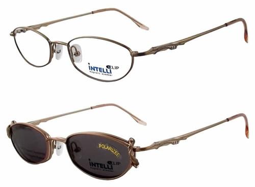 Magnetic Clip-On 750 Polarized Reading Sunglasses :: Custom Left & Right Lens