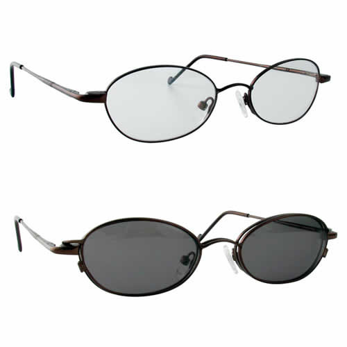 Magnetic Clip-On 240 Polarized Reading Sunglasses :: Rx Single Vision