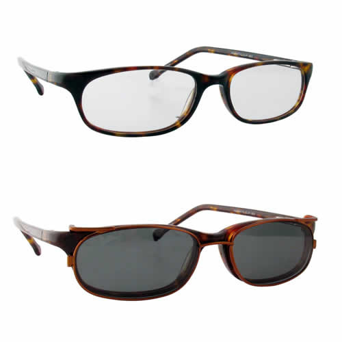 Magnetic Clip-On 902 Polarized Reading Sunglasses :: Rx Single Vision