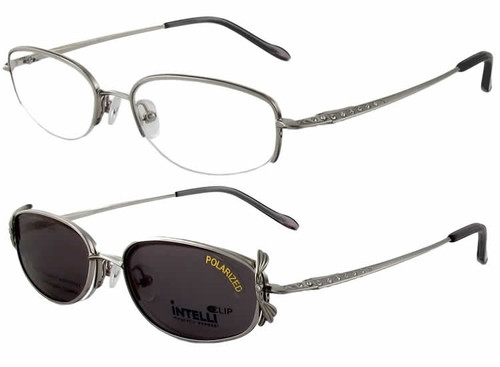 Magnetic Clip-On 747 Polarized Reading Sunglasses :: Rx Single Vision