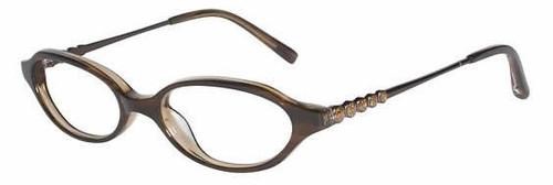 Jones New York Designer Eyeglasses J216 Brown :: Custom Left & Right Lens