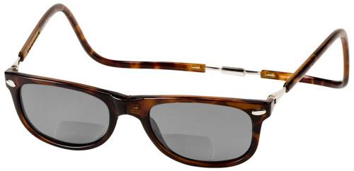 Clic Ashbury Wide Fit in Tortoise Polarized Bi-Focal Reading Sunglasses