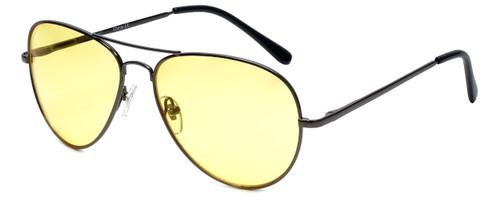 Calabria 1121 Night Driving Aviator Sunglasses with Yellow Tint