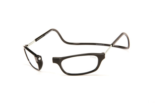 Clic Magnetic Eyewear Regular Fit Original Style in Black :: Custom Left & Right Lens