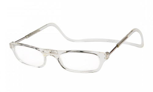 Clic Magnetic Eyewear Long Fit Original Style in Clear :: Custom Left & Right Lens
