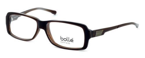 Bollé Dreux Designer Eyeglasses in Brown Stripe :: Progressive
